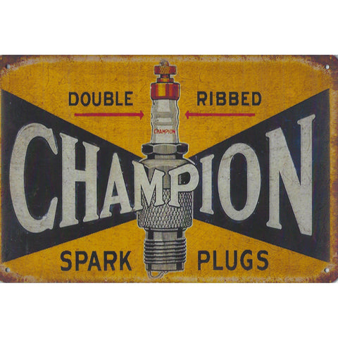 Champion Spark Plugs Tin Sign-Mr Revhead