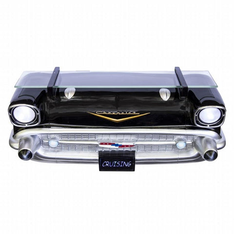 GM Chevrolet 1957 Bel Air Black Front End Wall Shelf (Working Lights)-Mr Revhead
