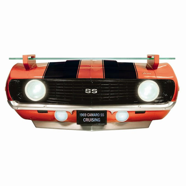 Chevrolet 1969 Camaro SS Red Front End Wall Shelf (Working Lights)-Mr Revhead