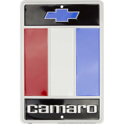 Chevrolet Chevy Camaro Emblem Logo Tin Sign-Mr Revhead
