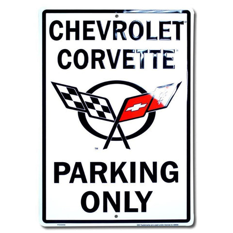 Chevrolet Corvette Parking Only Tin Sign-Mr Revhead