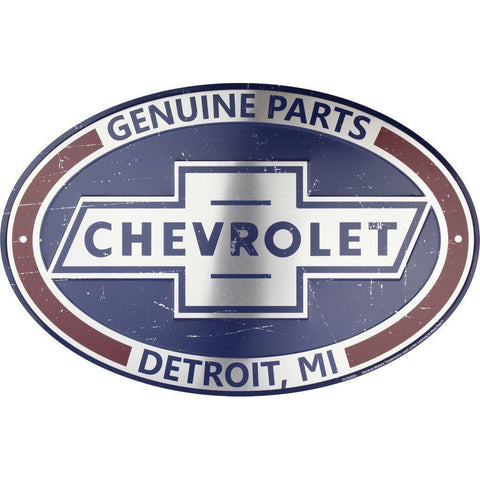 Chevrolet Genuine Parts Detroit Tin Sign-Mr Revhead