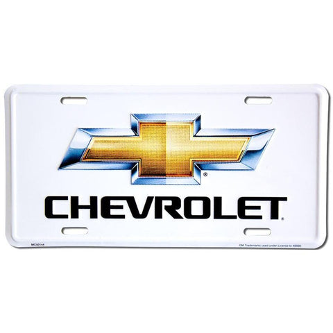 Chevrolet Gold Bow Tie License Plate-Mr Revhead