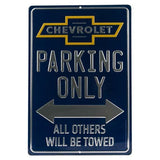 Chevrolet Parking Only Tin Sign-Mr Revhead