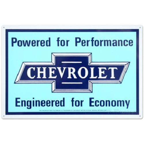Chevrolet Powered For Performance Tin Sign-Mr Revhead