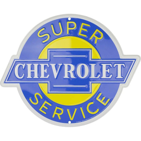 Chevrolet Super Service Tin Sign-Mr Revhead