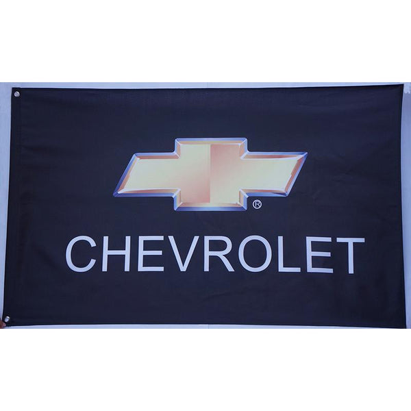 Chevrolet Black Bow Tie Flag-Mr Revhead