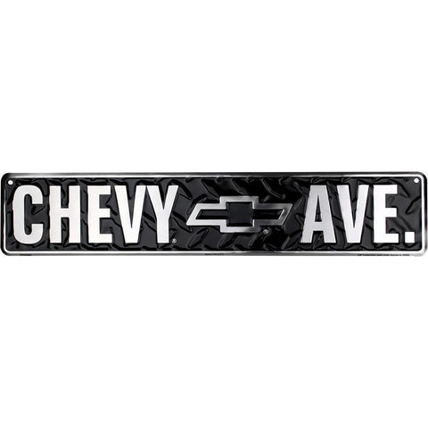 Chevy Ave Street Tin Sign-Mr Revhead
