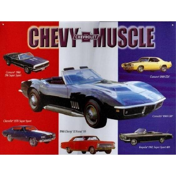 Chevy Montage Tin Sign-Mr Revhead