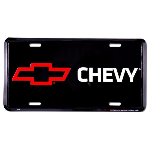Chevy Red Bow Tie License Plate-Mr Revhead
