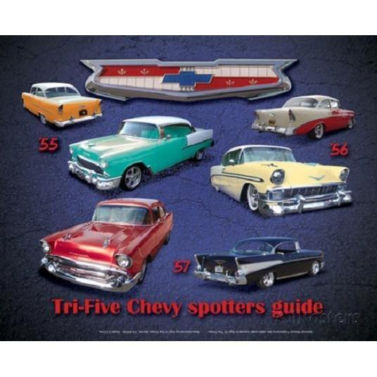 Chevy Spotters Guide Tin Sign-Mr Revhead