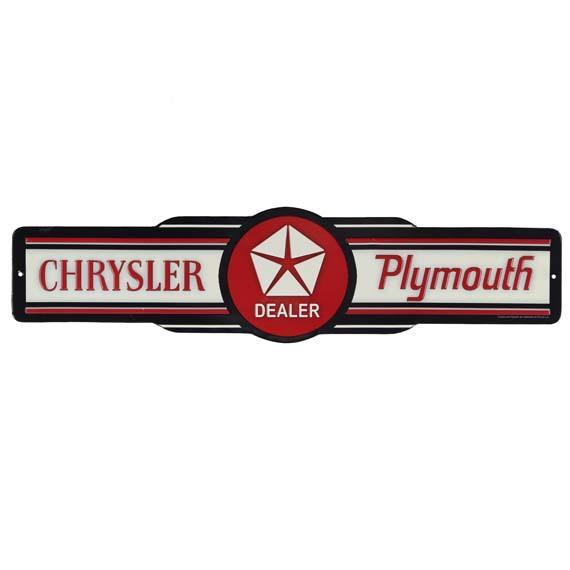 Chrysler Plymouth Dealer Tin Sign-Mr Revhead