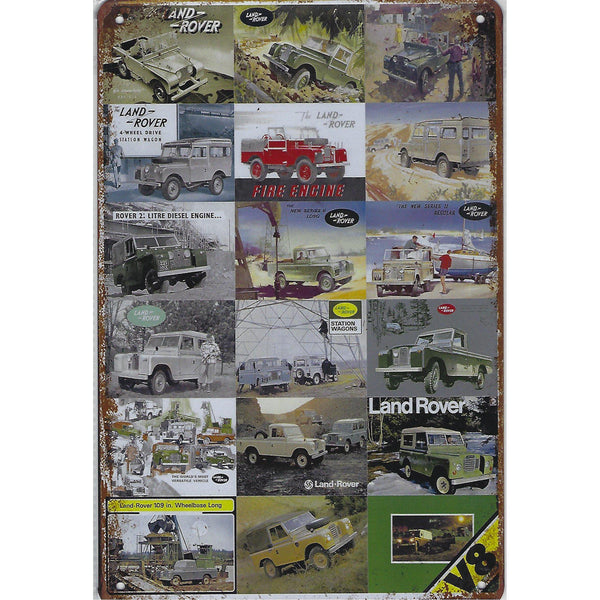 Classic Land Rover Montage Tin Sign-Mr Revhead