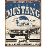 Classic Mustang Tin Sign-Mr Revhead