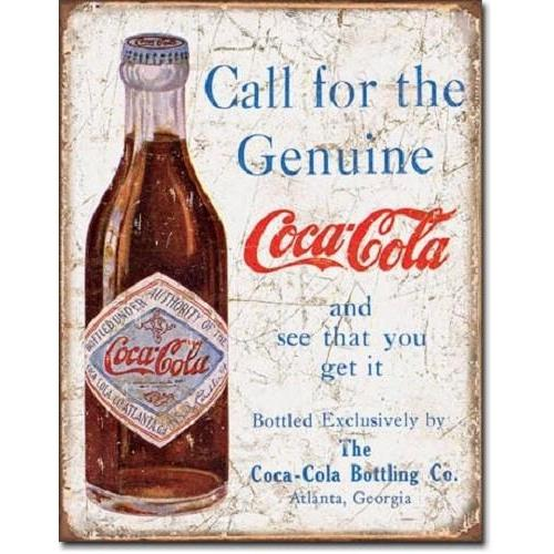 Coca Cola - Call For The Genuine Coke Tin Sign-Mr Revhead