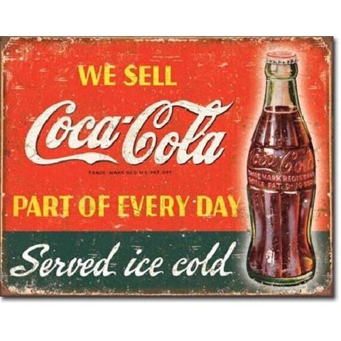 Coca Cola - Part Of Every Day Tin Sign-Mr Revhead