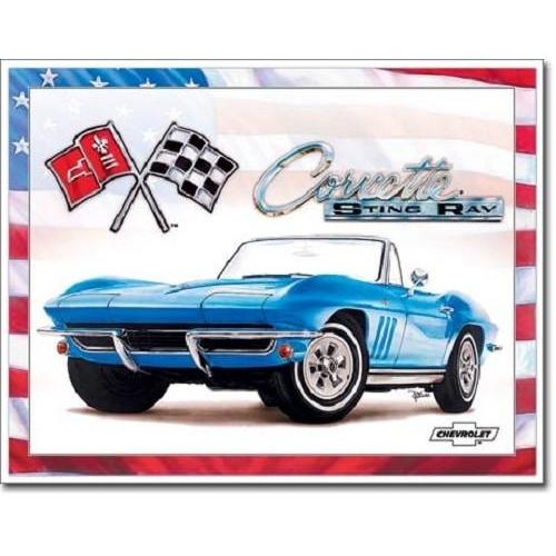 Corvette 65 Sting Ray Tin Sign-Mr Revhead