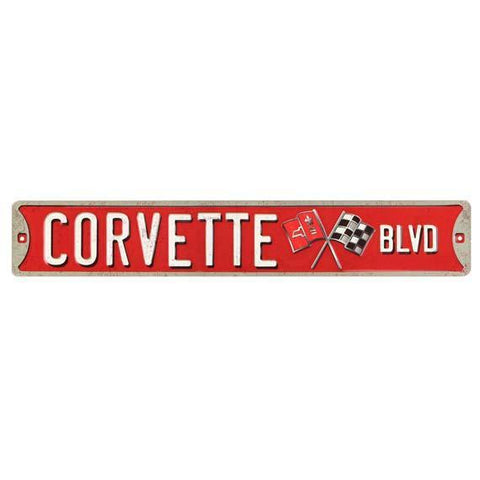 Corvette Boulevard Tin Sign-Mr Revhead