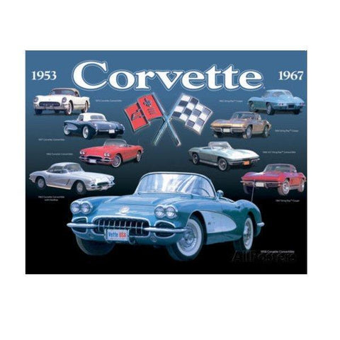 Corvette Collection Tin Sign-Mr Revhead