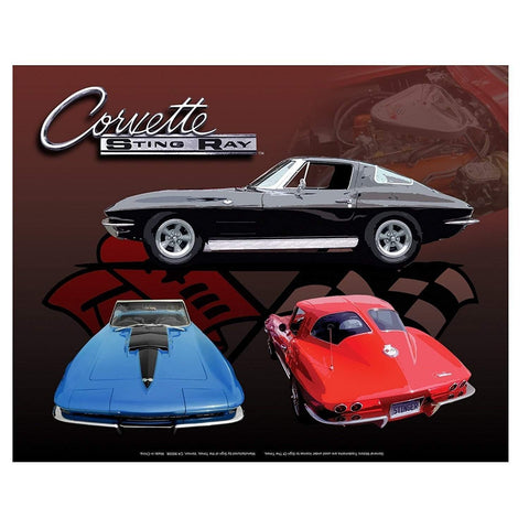 Corvette Stingray Montage Tin Sign-Mr Revhead