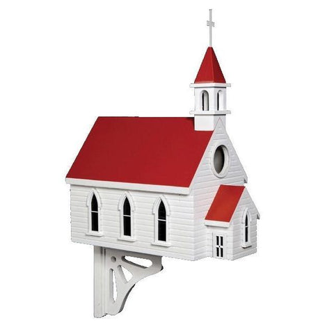 Country Church Bird House (Large)-mightymoo