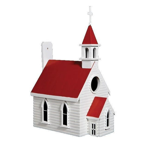 Country Church Bird House (Small)-mightymoo