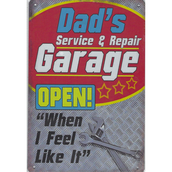 Dads Service & Repair Tin Sign-Mr Revhead