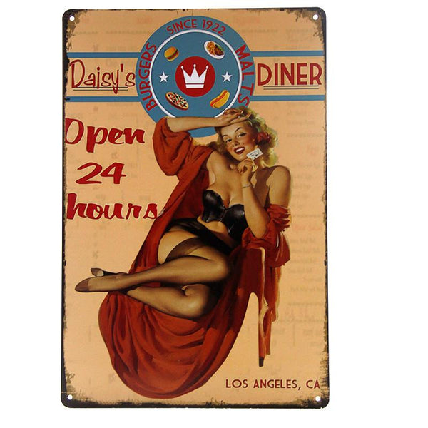 Daisy's Diner Tin Sign-Mr Revhead