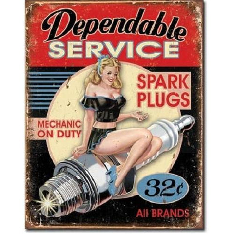 Dependable Service Tin Sign-Mr Revhead