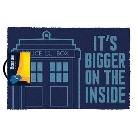 Doctor Who – Bigger On The Inside Door Mat-Mr Revhead