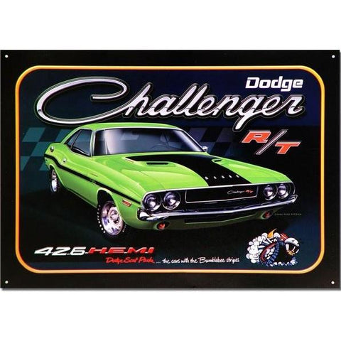 Dodge Challenger RT 426 Hemi Tin Sign-Mr Revhead
