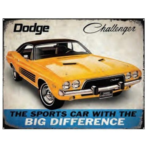 Dodge Challenger Tin Sign-mightymoo