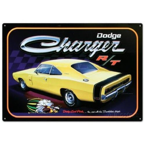 Dodge Charger R/T Car Tin Sign-Mr Revhead