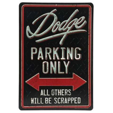 Dodge Parking Tin Sign-Mr Revhead