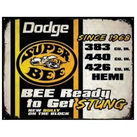 Dodge Super Bee Stung Tin Sign-Mr Revhead