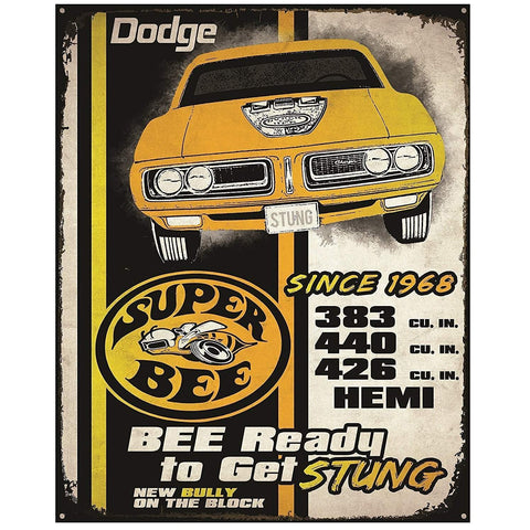 Dodge Super Bee Tin Sign-Mr Revhead