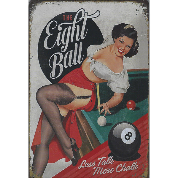 Eight Ball Tin Sign-Mr Revhead