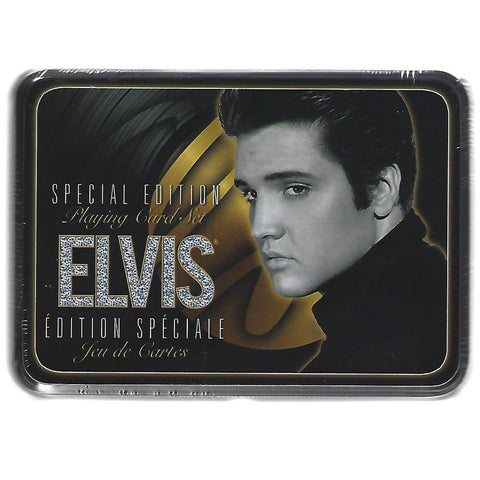 Elvis Gold Playing Cards Tin Set-Mr Revhead