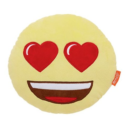 Emoji Heart Eyes Pillow-Mr Revhead