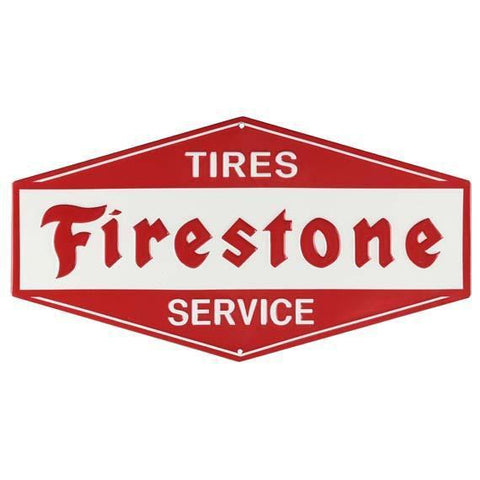 Firestone Tire Service Tin Sign-Mr Revhead