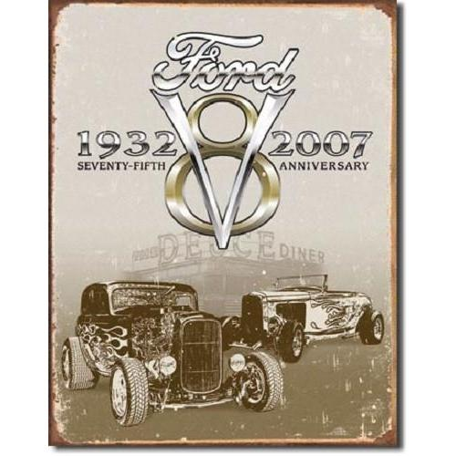 Ford Deuce 75th Anniversary Tin Sign-Mr Revhead