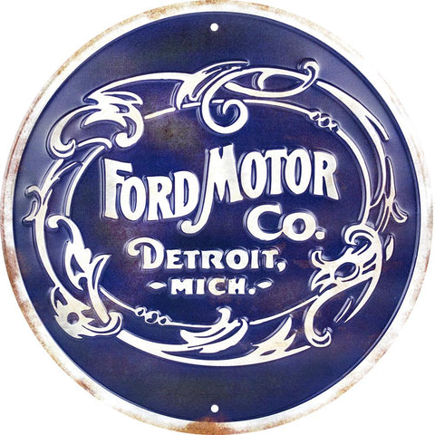 Ford Motor Co Detroit Tin Sign-Mr Revhead