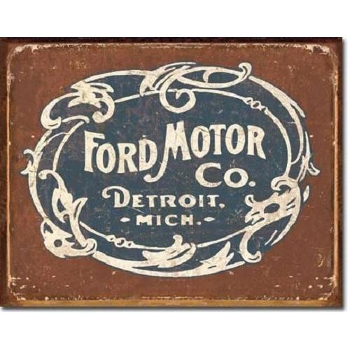Ford Motor Co - Historic Logo Tin Sign-Mr Revhead