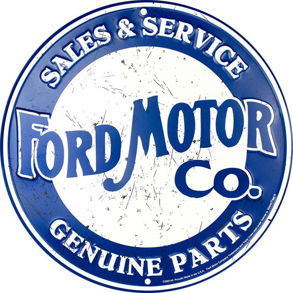Ford Motor Company Sales and Service Tin Sign-Mr Revhead