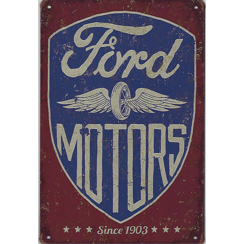 Ford Motors Since 1903 Tin Sign-Mr Revhead