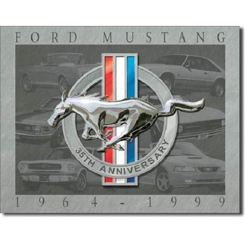 Ford Mustang - 35th Anniversary Tin Sign-Mr Revhead
