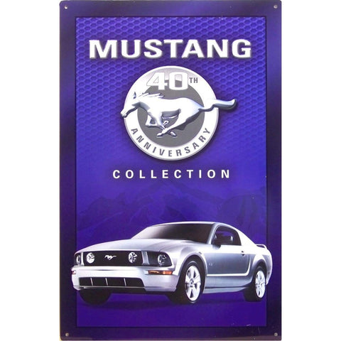 Ford Mustang 40th Anniversary Tin Sign-Mr Revhead