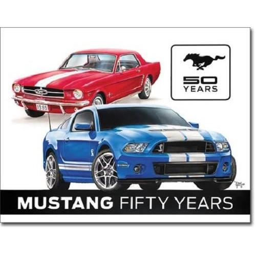 Ford Mustang 50 Years Tin Sign-Mr Revhead