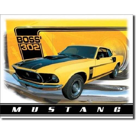 Ford Mustang Boss 302 Tin Sign-Mr Revhead