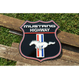 Ford Mustang Highway Shield Tin Sign-Mr Revhead